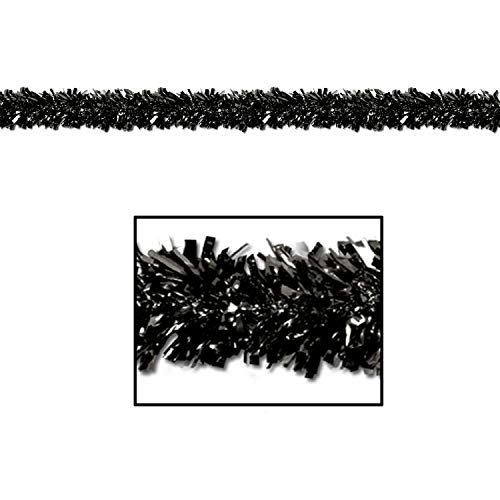 Metallic Garland Christmas Festooning Black, Gleam N Fest Metallic Garland, Pack 12