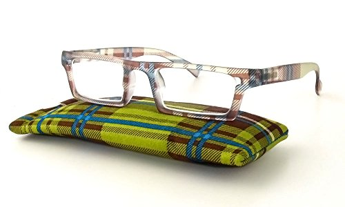 Calabria Jordan Designer Reading Glasses in Olive ; +1.75 by Calabria