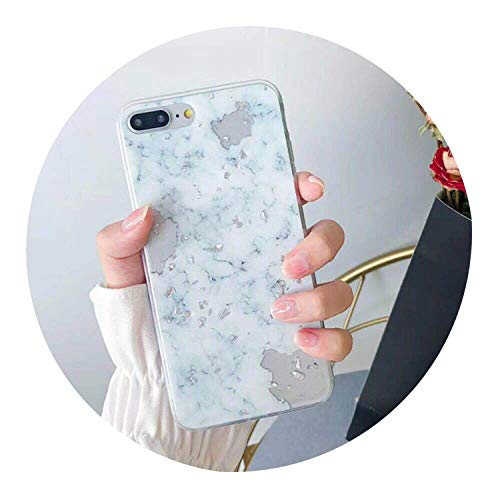 Gold Foil Bling Marble Phone Case for iPhone X XS Max XR Soft TPU Cover for iPhone 7 8 6 6s Plus Glitter Case Coque Funda,White Green,for iPhone 6 (Hello Kitty Galaxy Core 2)
