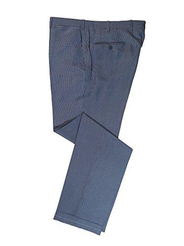 Silk Linen Pants - Brioni Men's Blue Megeve Striped Linen Silk Pants 38