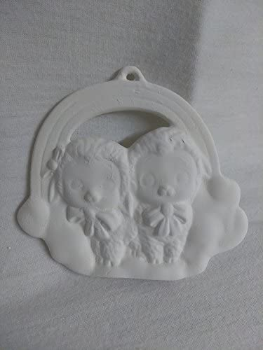 Lamb on a Cloud Ornament Ceramic Bisque Ready To Paint