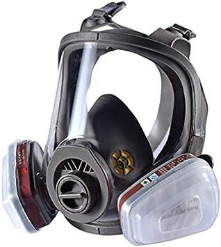 Dust Smoke Máscara de gas, máscara bucal, filtro de protección respiratoria para manejo químico, pintura, soldadura de polen
