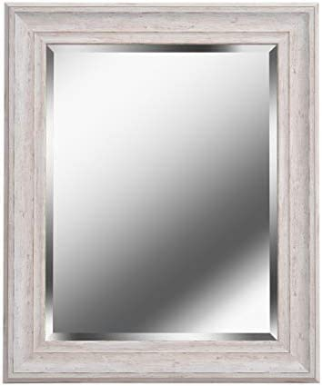 Kenroy Home 60352 Warren Home D cor, Wall 35 x 29 Inch, Distressed White Wood Finish