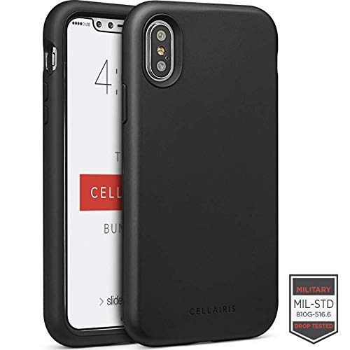 Cellairis - The Cellairis Bundle, Cell Phone Case for Apple iPhone X (Black), Tempered Glass Screen Protector for Apple iPhone X from Cellairis