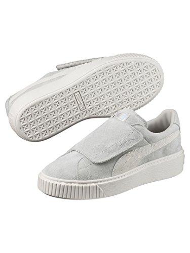 Bianco Platform Sneakers Grigio 02 Wn's Strap Puma 365224 36 Grigio Glicine g7TYndx