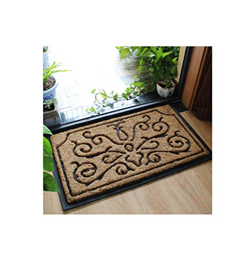 ZGP Interior Carpet Classic Coir Doormat with Black Rubber Scroll Border, 4575cm - Western Design Blanket (Color : #3, Size : 4575cm) ()