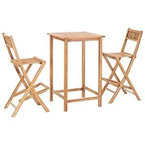 FESTNIGHT Conjunto de Muebles de Patio,Sillas Plegables ...