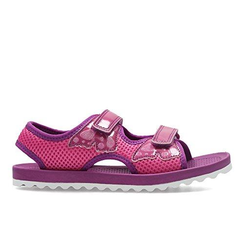 Clarks  Bondi Buzz Jnr, Chaussures de ville à lacets pour femme rose rose