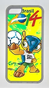 The Yellow Cat Looking the Fishes Swimming DIY Rubber Transparent iphone 5/5s iphone 5/5s Case Perfect By Custom Service