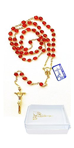 (Veritas Polska, Inc. Sterling Silver Rosary with Papal Crucifix and Madonna Center Medallion, 19-1/2