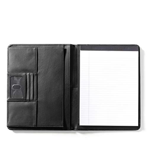 Leatherology Deluxe Portfolio - Full Grain Leather - Black Onyx (black)