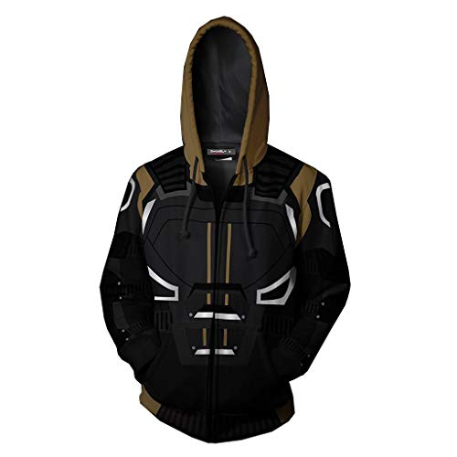 Super Hero Hoodie Super Hero Costume Creative Fashion Sweater Halloween Costume (XS, Jean) -