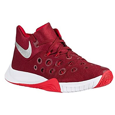 new arrival 7df18 07b98 Amazon.com   NIKE Men s Zoom Hyperquickness 2015 TB Basketball Shoes (7  D(M) US, Team Red Metallic Silver University Red)   Basketball