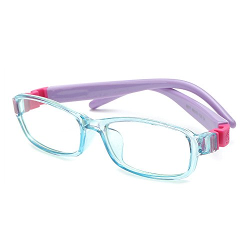 Fantia Trendy Fashion Square Children Flat Glasses Kids Eyeglasses Frame (F)