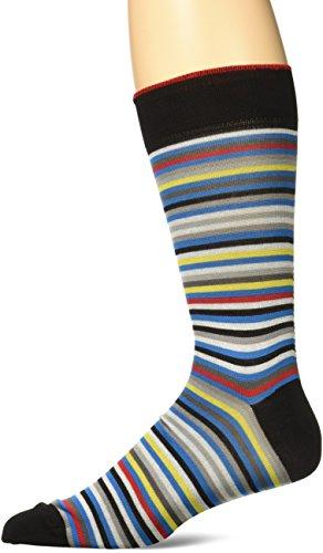 BUGATCHI Men's Decker Fashion Sock, Black, Sock Size:10-1...