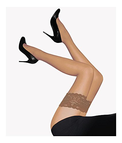 Wolford Satin Touch 20 Stay-Up - Mujer 20 Denier Fairly Light