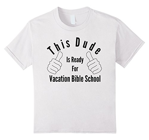 unisex-child Ready for Vacation Bible School 10 White