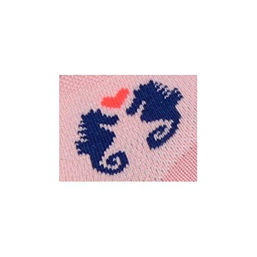 D'hippocampes Rose En Achile Socquettes Couple Coton qw7gxEPR
