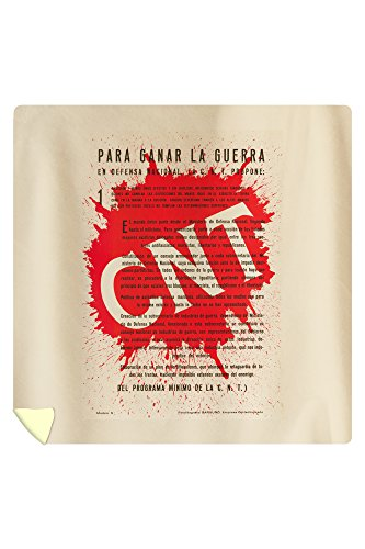 CNT Vintage Poster Spain c. 1936 (88x88 Queen Microfiber Duvet Cover) by Lantern Press
