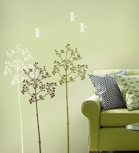 Large Stencil Going to Seed - Easy reusable wall stencils better than Decals