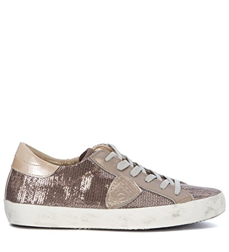 PHILIPPE MODEL Sequins Woman's Paris Sneaker with Pink Gold Sequins MODEL B075K449VV Shoes 6cbbbf