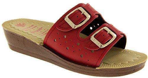 Footwear Studio - Zuecos para mujer rojo - rojo