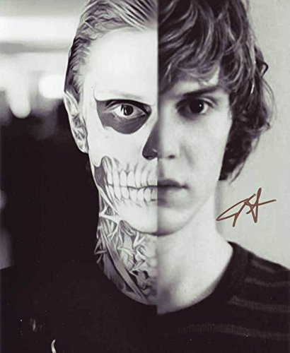 Evan Peters - American Horror Story AHS - Signed 8x10 Photograph in Mint Condition PSA COA - Freakshow Ahs