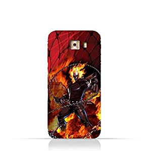 Samsung Galaxy C7 Pro TPU Protective Silicone Case with Ghost Rider Design