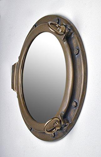 20'' Bronze Finish Wall Mount Porthole Mirror by Nautical Tropical Imports (Image #2)