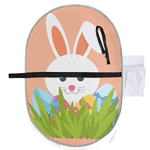 Cute Bunny Waterproof Baby Changing Pad, Portable Diaper Changing Pad, Diaper Bag Mat, Foldable Travel Changing Station | Stroller Strap,Side Pocket for Wipes Diaper| for Infants & Newborns