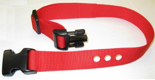 """41cYICAcszL - Grain Valley 1"""" Replacement Strap, Color: Red. Sold Per Each. Fits Most PetSafe Bark Collars and Many Containment Collars. (No-Bark Collars / Accessories)"""