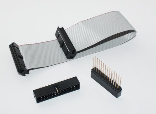 GPIO ribbon cable for Raspberry Pi set with 2x13 stackable header and 2x13 box header