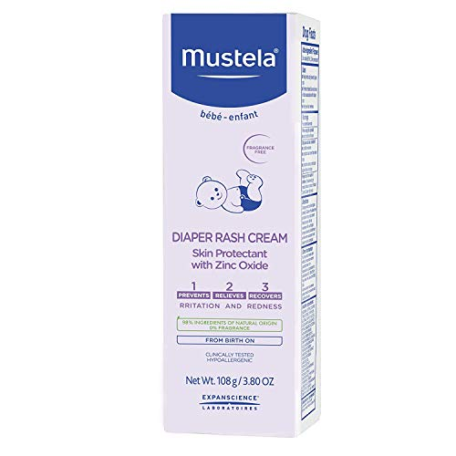 41cYIOSbjvL - Mustela Baby Diaper Rash Cream 123 - Skin Protectant With Zinc Oxide - Fragrance Free & Paraben Free - With 98% Natural Ingredients - Various Packaging