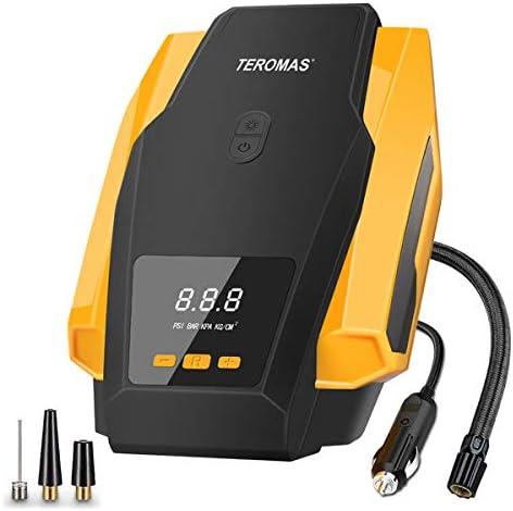 Portable DC//AC Air Pump for Car Tires 12V TEROMAS Tire Inflator Air Compressor