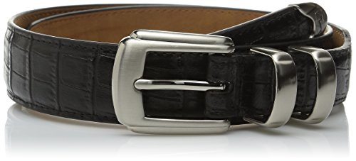 [PGA TOUR Men's Italian Gator Grain Belt,Black,38] (Reptile Buckle Belt)