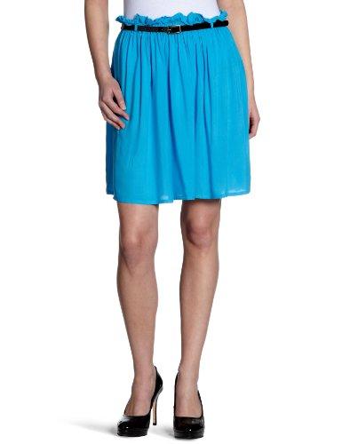 Vila - Falda para mujer Azul (Aquatic Blue)