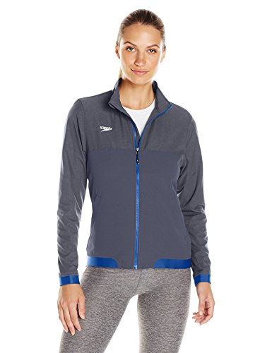 (Speedo Womens Female Tech Warm Up Jacket, Blue, Small)