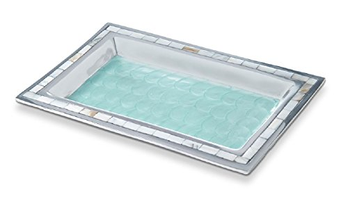 (Julia Knight 7722053 Bath Collection Vanity Tray, One Size, Aqua )