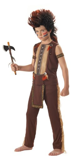 Indian Warrior Boy's Costume, Medium, One -