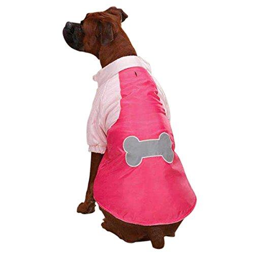 Casual Canine Nylon Snow Dog Parka Raspberry