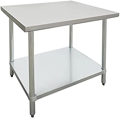Amazon.com: Hubert Acero inoxidable mesa de trabajo 36L X 30 ...