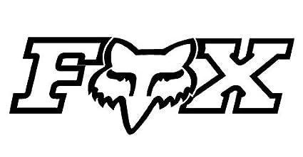amazon com black fox racing logo window new sticker automotive