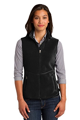 Port Authority Women's R Tek Pro Fleece Full Zip Vest S Blac