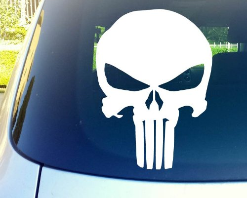 "Punisher Skull 11"" Die Cut Vinyl Car Decal Sticker for Car Window Automobile Window Car Bumper Truck Laptop Ipad Notebook Computer Tablet Decal Skateboard Motorcycle"