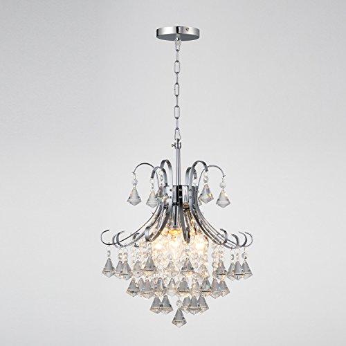 Aero Snail Retro Chrome Finish Crystal Chandelier Ceiling Light Pendant Lamp Lighting Fixture