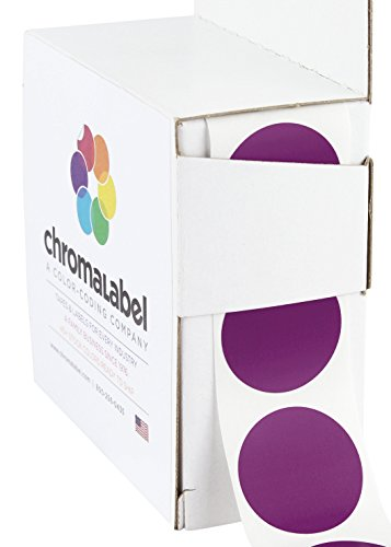 "1"" Purple Color-Code Dot Labels (Write On Surface) 