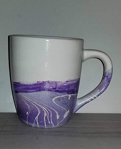 Large Purple Coffee Mug 24 oz/Large Purple Ceramic Mug 24 oz/Hand Painted Purple Mug/Purple Latte Mug/Large Purple Coffee Mug/Purple Coffee Mug/Extra Large Purple Coffee Mug/Purple Mug 24 oz