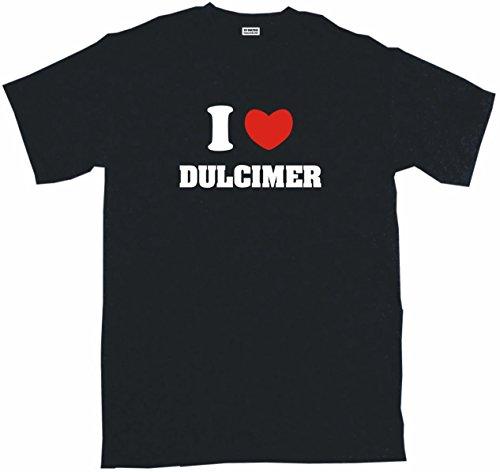 I Heart Love Dulcimer Men's Tee Shirt 2XL-Black