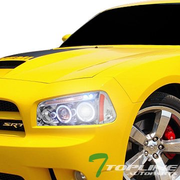 6000K HID XENON CHROME HALO LED PROJECTOR HEAD LIGHTS+CORNER AM 05/06-10 CHARGER