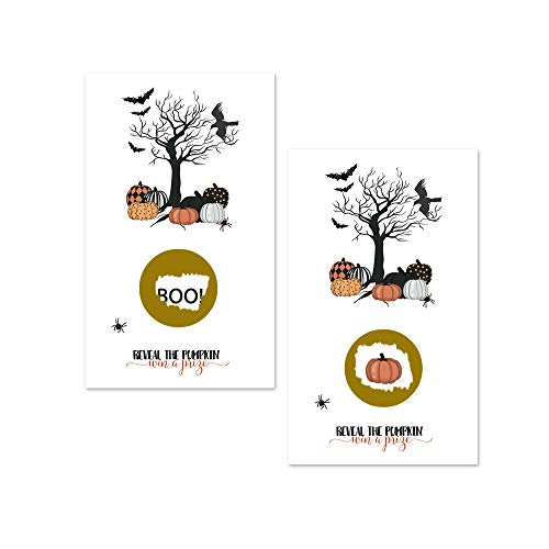 Bewitched Halloween Party Scratch Off Game (28 Pack) Haunting Pumpkins